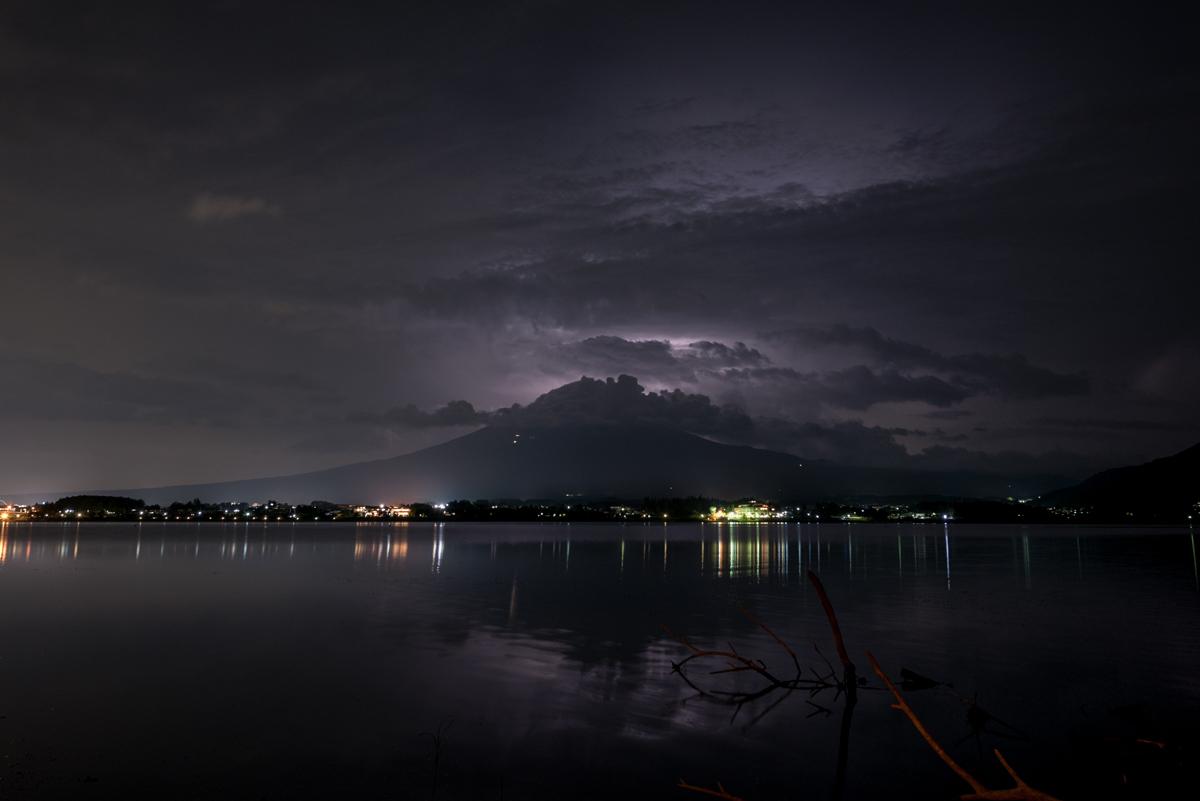 富士山と雷