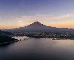 富士山を見ながら空中散歩